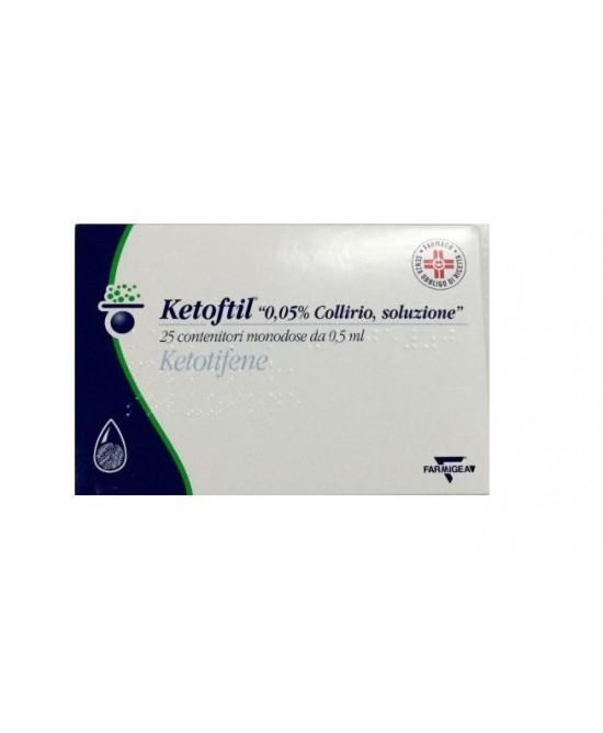 Ketoftil 0,05% Collirio, Soluzione 25 Contenitori Monodose Da 0,5 Ml
