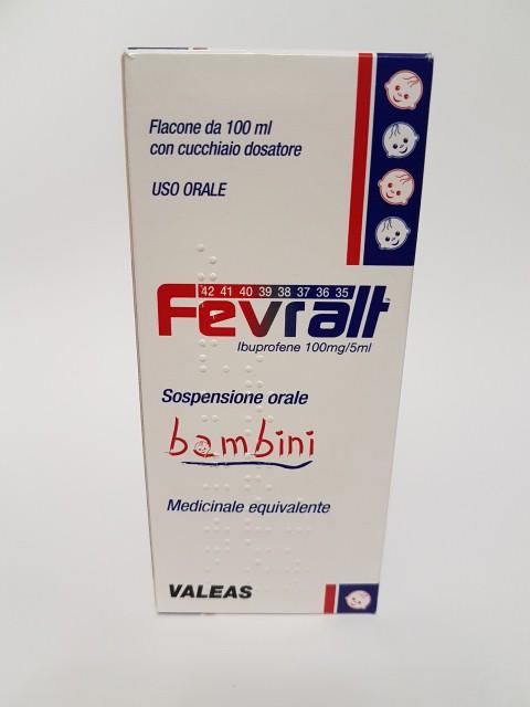 Fevralt Bambini 100 Mg/5 Ml Sospensione Orale 1 Flacone Pet Da 100 Ml Con Cucchiaio Dosatore
