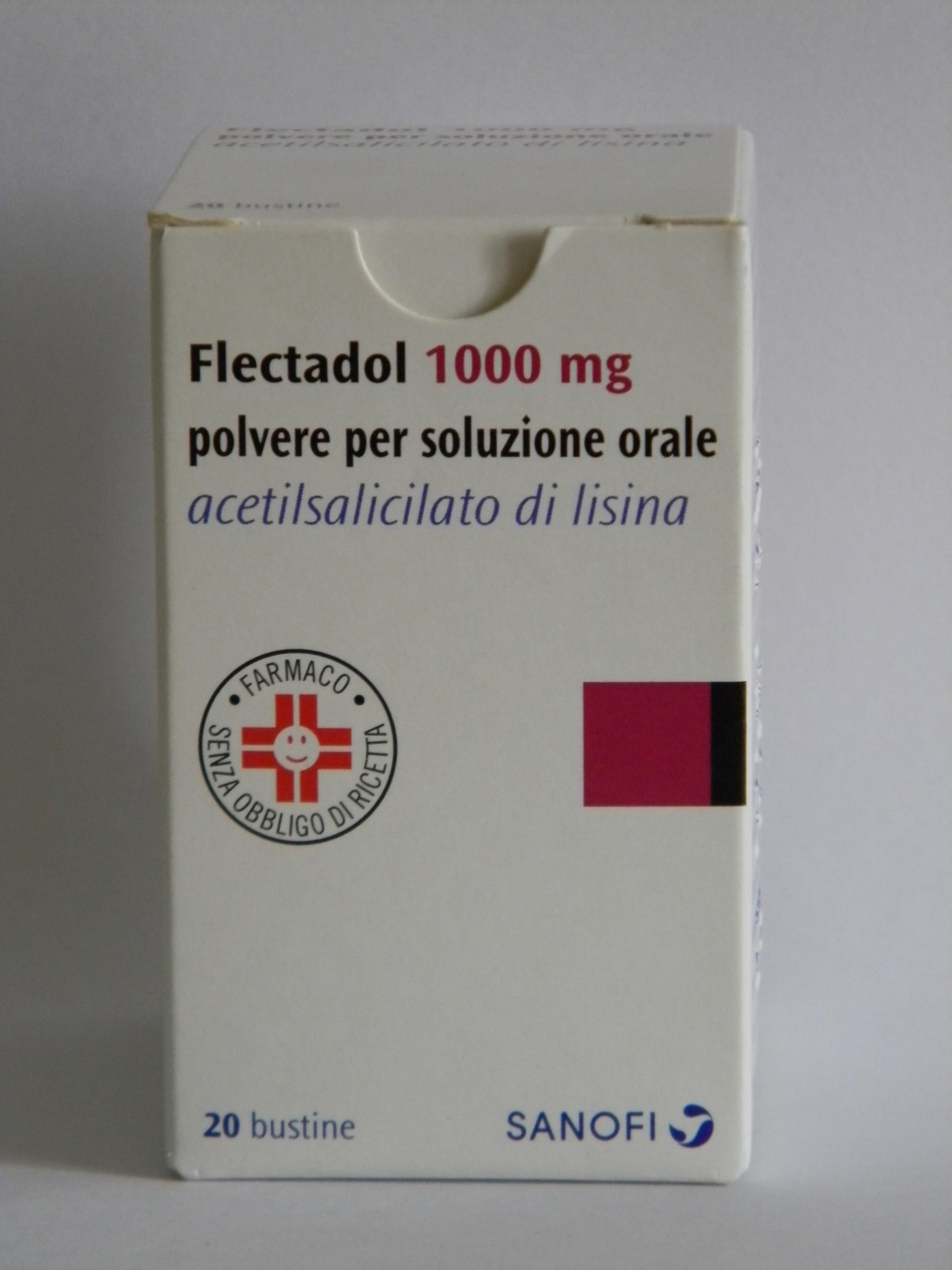 Flectadol 1.000 Mg Polvere Per Soluzione Orale 20 Bustine