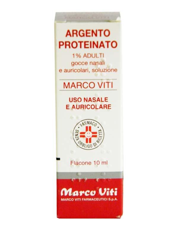 Argento Proteinato 1% Gocce Nasali, Soluzione Flacone 10 Ml
