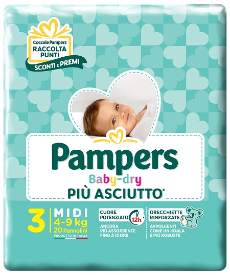 Pampers Baby Dry Taglia 3 - 20 Pezzi