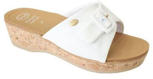 Dr.scholl s Div.footwear Wappy Leather Womens White Memory Cushion Bianco 37