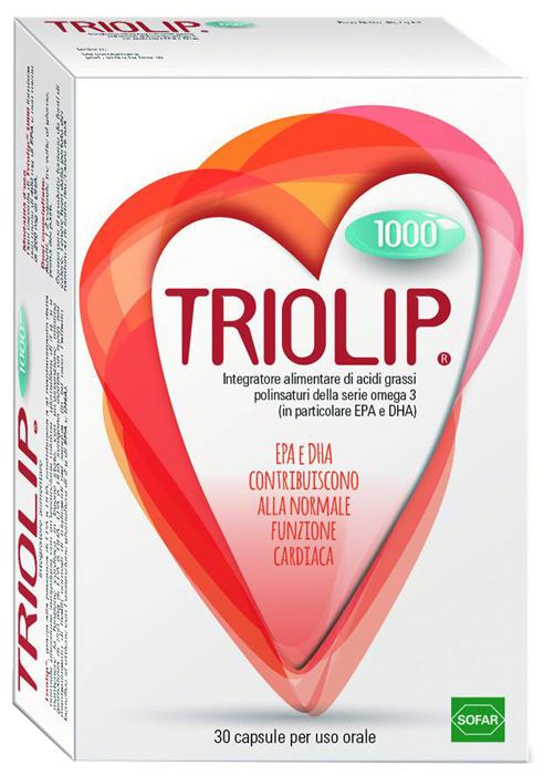 Triolip 1000 Integratore Di Acidi Grassi per la Funzione Cardiaca 30 Capsule