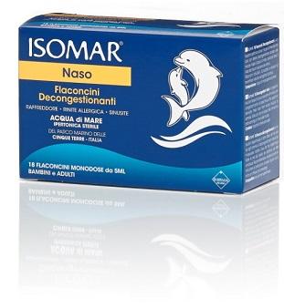 Isomar Soluzione Ipertonica Acqua Mare 18 Flaconcini Monodose 5 Ml