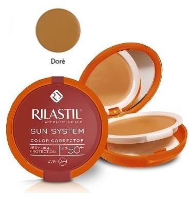 Rilastil Linea Sun System PPT SPF50+ Color Corrector Fondotinta Compatto Dore'