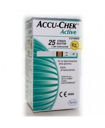 Strisce Misurazione Glicemia Accu chek Active Strips 25 Pezzi Inf Retail