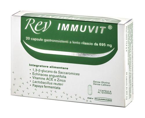 Rev Pharmabio Rev Immuvit 20 Capsule