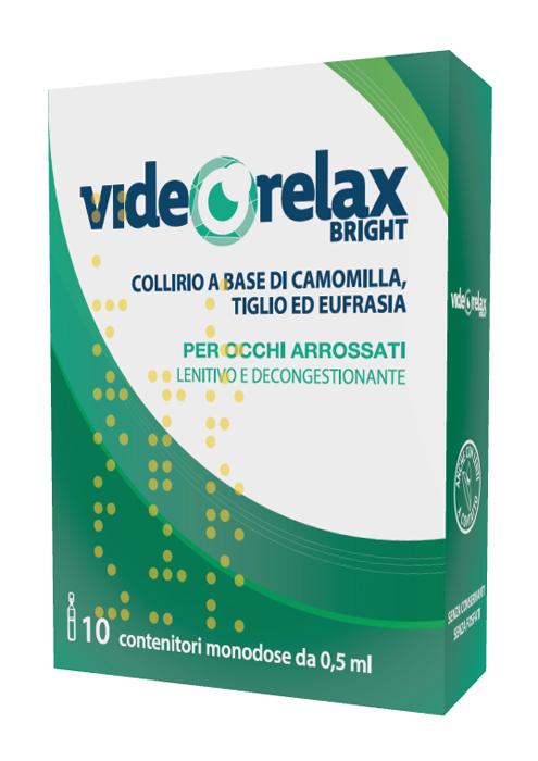 Videorelax Collirio Lenitivo Decongestionante Bright Monodose 0,5 ml 10 Pezzi