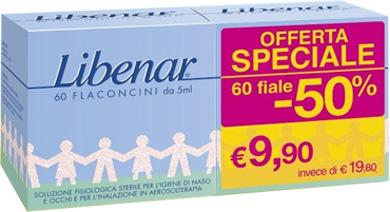 Perrigo Italia Fiale Monodose Libenar 60 Pezzi Da 5 Ml