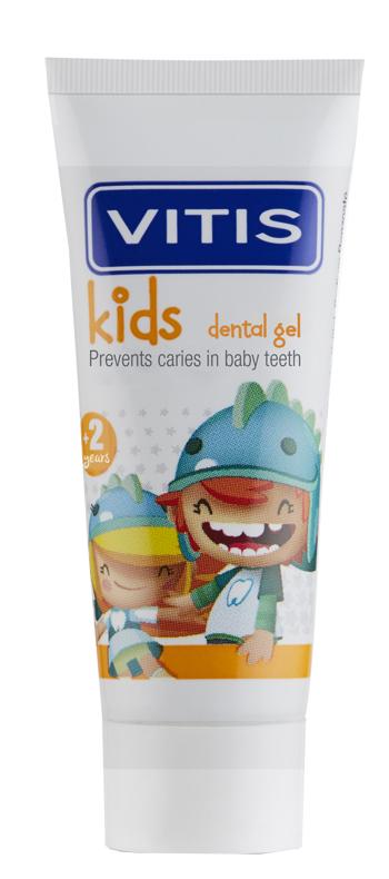 Vitis Kids Gel Dentifricio per Bambini Gusto Ciliegia 50 ml