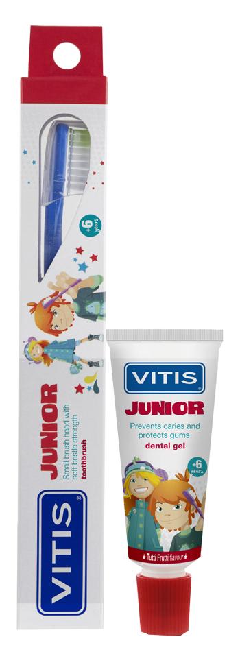 Vitis Junior Spazzolino Gel Dentifricio per Bambini da 15 ml