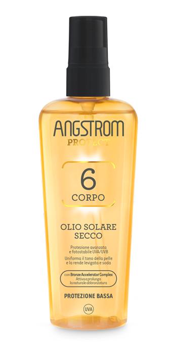 Angstrom Olio Solare Secco Spf6 Spray Protezione Bassa 150 ml