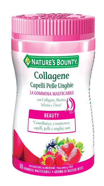 Nature's Bounty Collagene Capelli Pelle Unghie 60 Gommose Masticabili