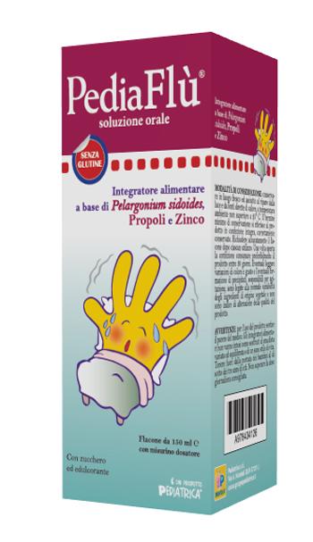 Pediaflu Sciroppo Integratore a base di Propoli e Zinco 150 ml