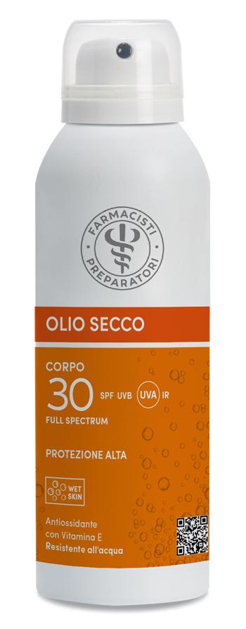 Unifarco Olio Secco Spf 30 Corpo E Capelli Wet Skin Protezione Alta 150 ml