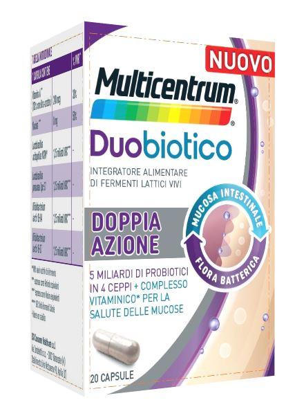 Multicentrum Duobiotico Doppia Azione Integratore Fermenti Lattici 20 Capsule