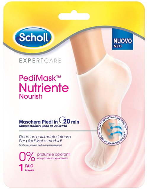 Scholl Expertcare Pedimask Maschera Piedi Nutriente 0 Profumi e Coloranti 1Paio