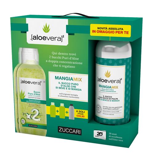 Zuccari Aloevera2 Succo Puro 2 Litri Mangiamix 1 Litro