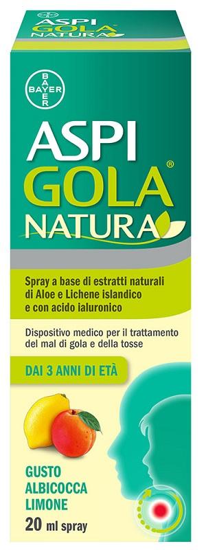 Bayer Aspi Gola Natura Spray Gusto Albicocca/Limone 20 ml