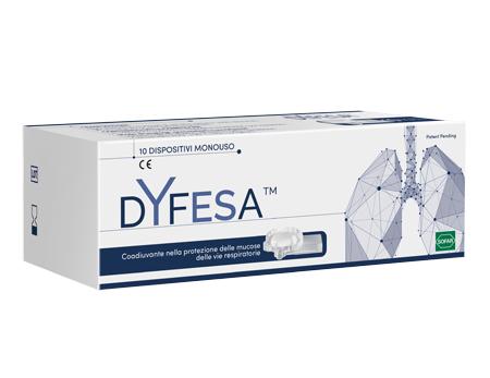 Dyfesa 10 Dispositivi Monouso Per Inalazione per le Mucose delle Vie Respiratori