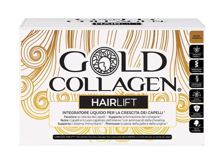 Gold Collagen Hairlift Integratore per Capelli e Unghie 10 Flaconcini Da 50 ml