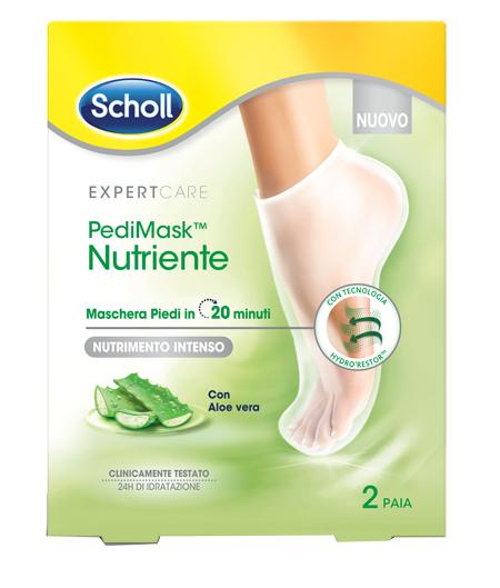 Scholl Expertcare Pedimask Maschera Piedi Nutriente con Aloe Vera 2 Paia