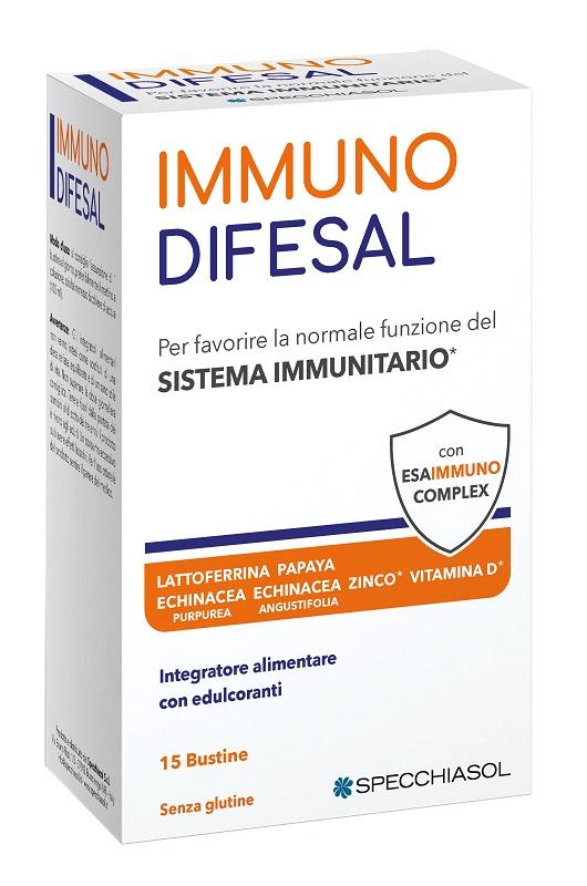 Specchiasol Immunodifesal Integratore per il Sistema Immunitario 15 Bustine
