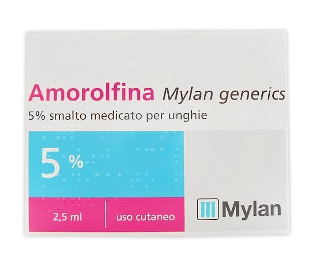 Amorolfina My 5% Smalto Medicato Per Unghie 1 Flacone In Vetro Da 2,5 Ml
