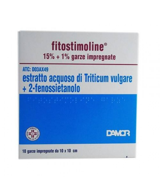 Fitostimoline 15% Garze Impregnate 10 Garze