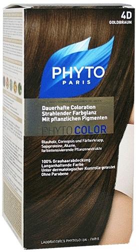 Ales Groupe Italia Phyto Phytocolor 4d Castano Chiaro Dorato