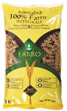 Probios Pasta 100% Farro Integrale Fusilli 500 G