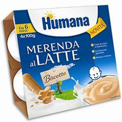 Humana Italia Humana Merenda Gusto Biscotto 4 X 100 G
