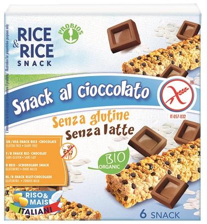 Probios Rice&rice Snack Di Riso Al Cioccolato 6 X 21 G Senza Lievito