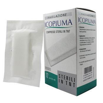 Garza Compressa In Tessuto Non Tessuto Icopiuma Adesiva 18x40 Cm 12 Pezzi