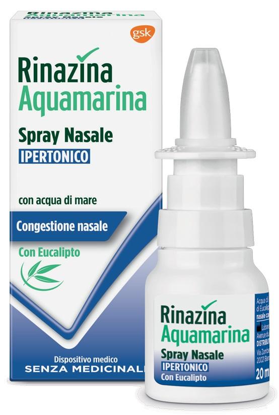 Rinazina Acquamarina Soluzione Nasale Ipertonica Con Eucalipto Spray 20 Ml