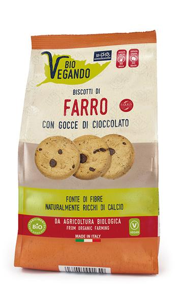 Sottolestelle Biovegando Biscotti Farro Con Gocce Di Cioccolato 250 G