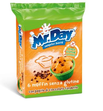 Vicenzi Mr Day Muffin Senza Glutine Con Pepite Di Cioccolato Fondente 6 X 42 G