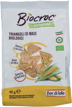 Baule Volante e Fior Di Loto Biocroc Triangoli Di Mais Bio 40 G