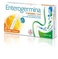 Enterogermina 4 Miliardi 5 Ml Sospensione Orale 10 Flaconcini