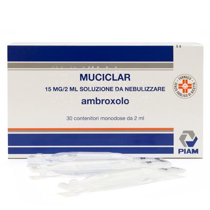 Muciclar 15 Mg/ 2 Ml Soluzione Da Nebulizzare 30 Contenitori Monodose Da 2 Ml