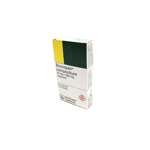 Buscopan Compositum 10 Mg + 800 Mg Supposte 6 Supposte