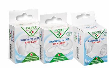 Federfarma.co Rocchetto Tessuto Non Tessuto Delicato 2,5 Cm X 5 M Profar
