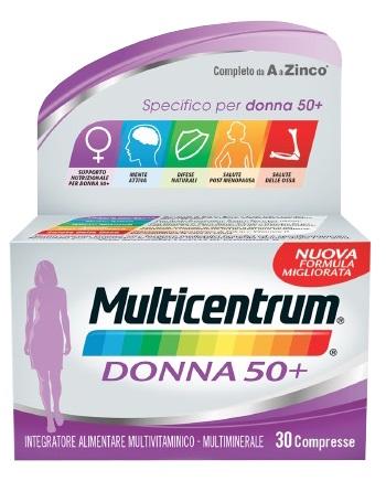 Multicentrum Linea Vitamine Minerali Donna50+ Integratore Alimentare 30Compresse