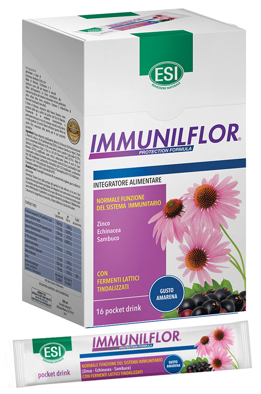 Esi Linea Difese Immunitarie Immunilflor Integratore 16 Pocket Drink 20 Ml