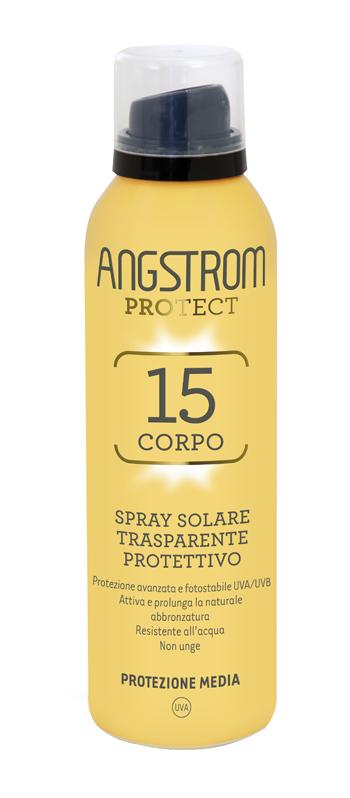 Angstrom Protect Corpo Spray Solare Trasparente Spf 15 150 Ml