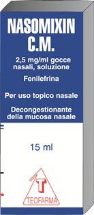 Nasomixin Cm 2,5 Mg/Ml Gocce Nasali, Soluzione Flacone Da 15 Ml