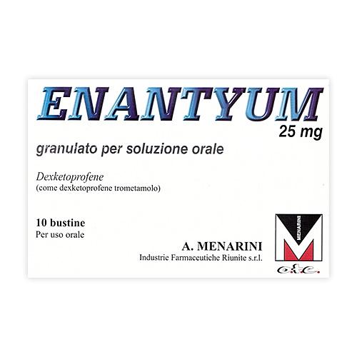 Enantyum 25 Mg Granulato Per Soluzione Orale 10 Bustine Al Pe Monodose