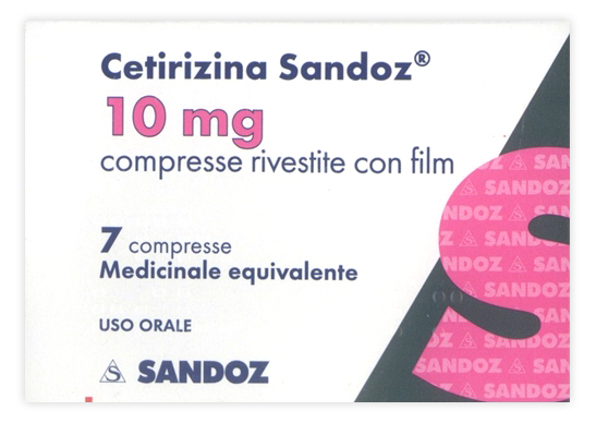 Cetirizina Sand 10 Mg Compresse Rivestite Con Film 7 Compresse In Blister Pvc Alu