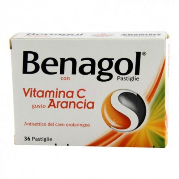 Benagol Vit C Pastiglie Con Vitamina C Gusto Arancia 36 Pastiglie