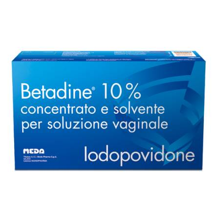 Betadine 10 Concentrato E Solvente Per Soluzione Vaginale 5 Flaconi 140 Ml 5 Fialoidi 10 Ml 5 Cannule